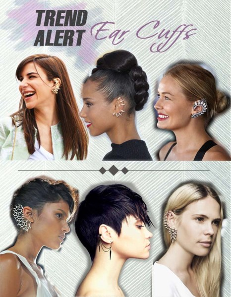 2013 spring summer ear cuffs trend alert wink n pout, alicia keysear cuff, ear cuff runway, earcuffs celebrities