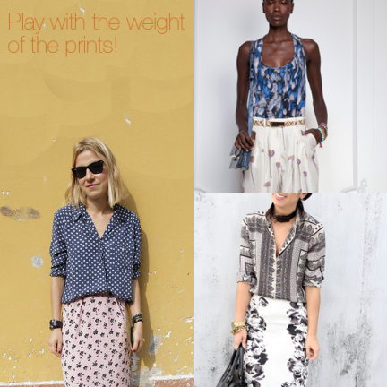 How to mix prints, mixing prints