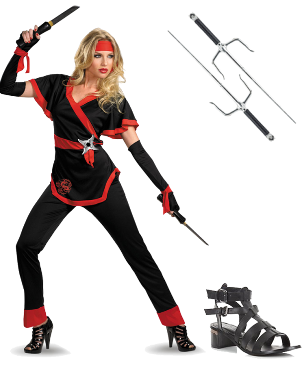 A-Female-Ninja-halloween-costume-inspiration-for-apple-shaped-women