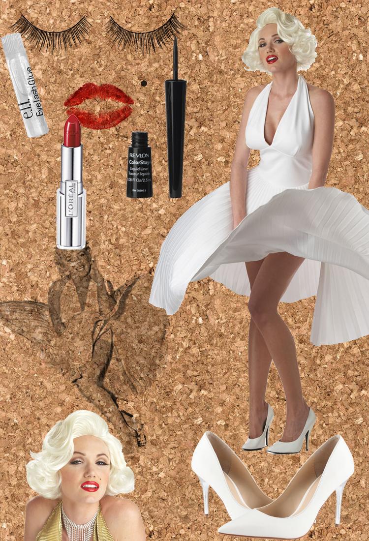 Marilyn-Monroe-Halloween-Inspiration  sc 1 st  Wink n Pout - WordPress.com & 3 Ideas for Flattering Halloween Costumes u2013 Curvy Women |