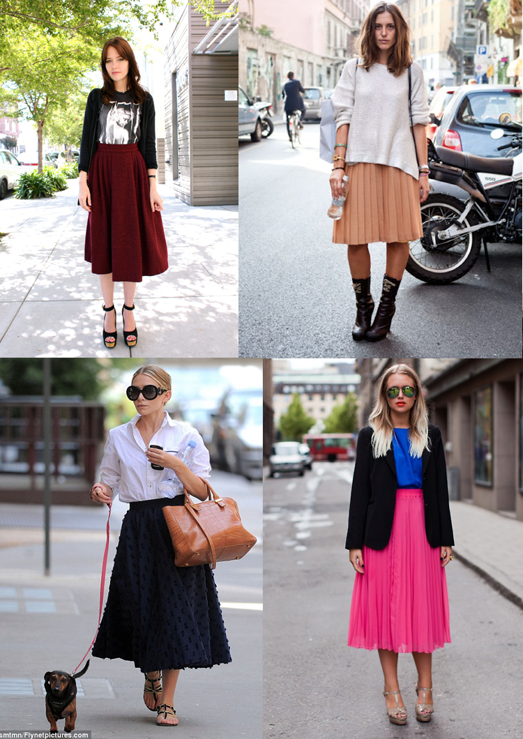 how to wear a midi skirt edition
