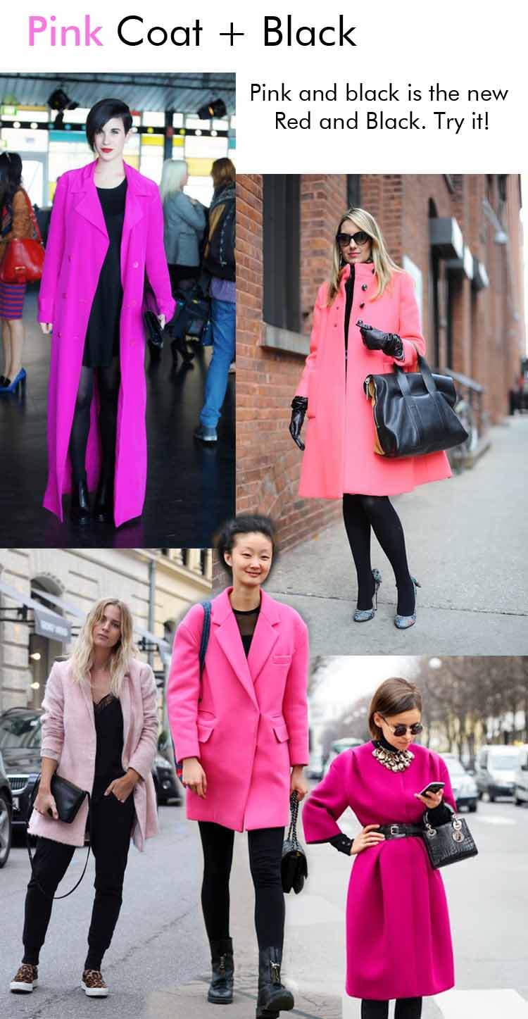 8 ways to wear a Pink Coat in Fall 2013 ! |