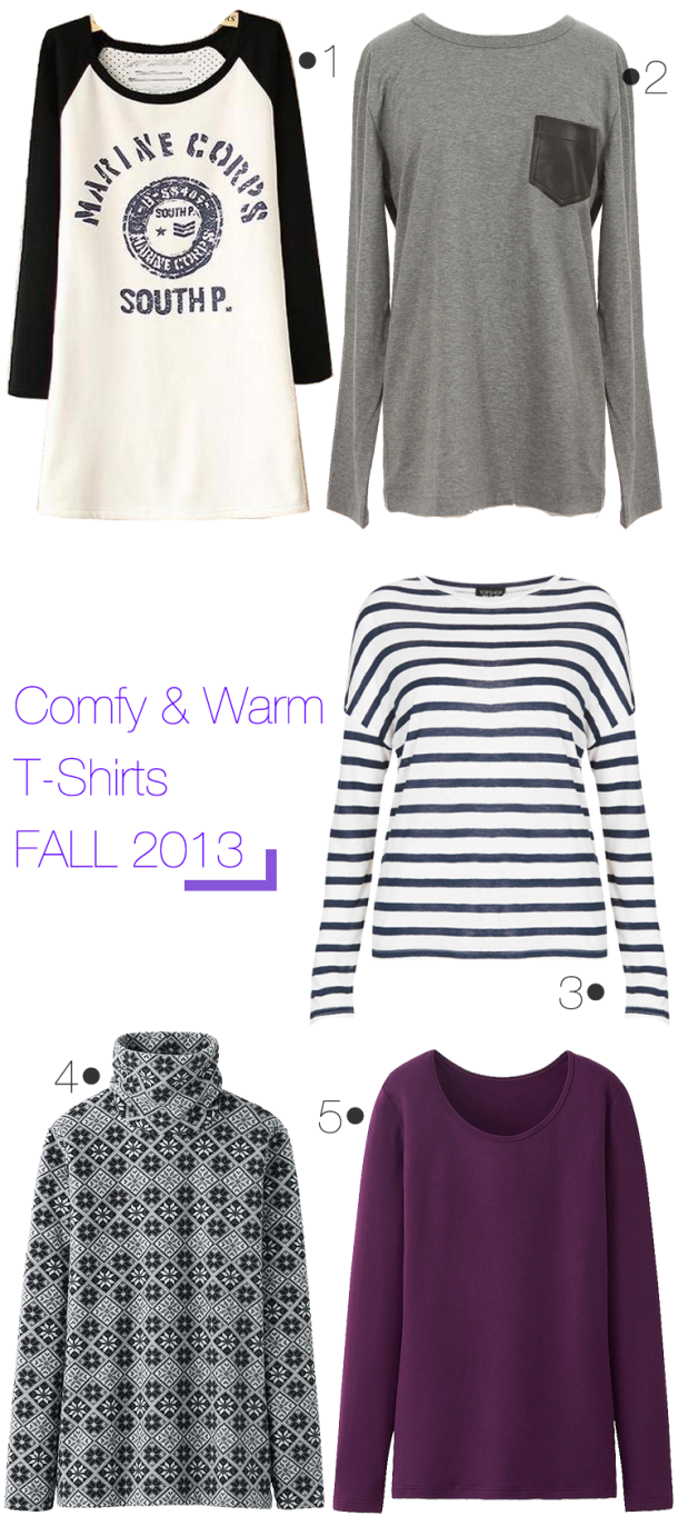 T-Shirts-that-are-comfy-and-warm-for-fall-2013
