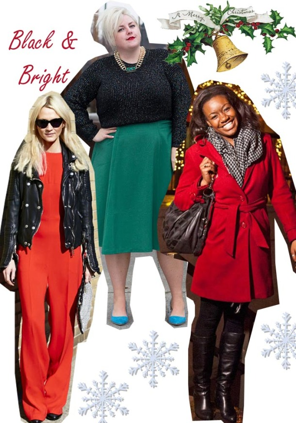 christmas outfit ideas subtle black red and green