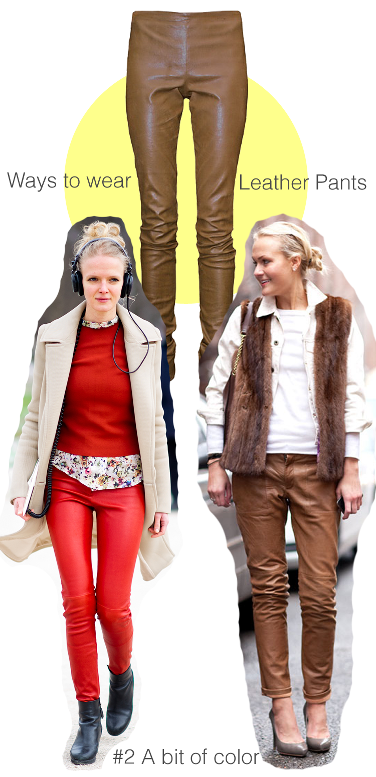 3 ways to wear the leather pants