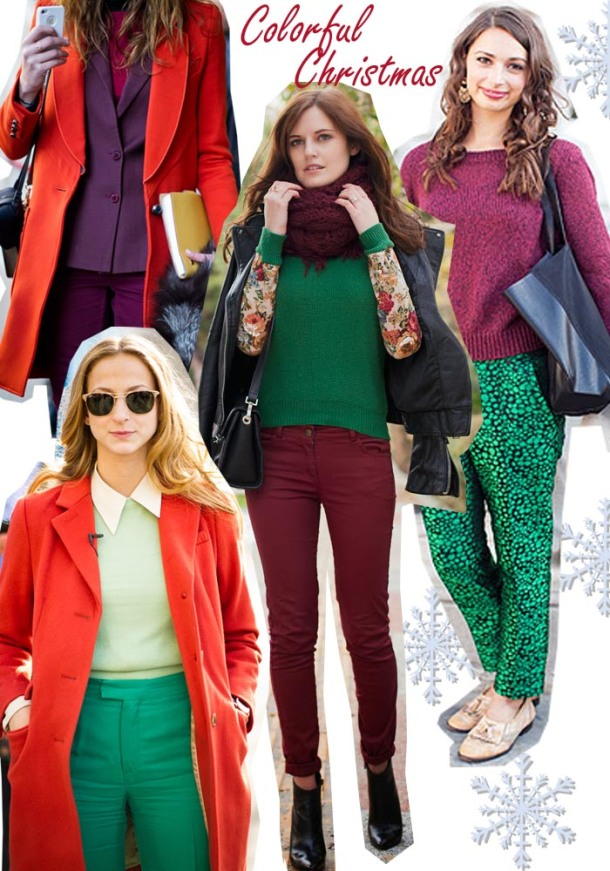 colorful christmas outfit ideas