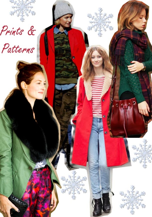 prints and patterns christmas outfit ideas
