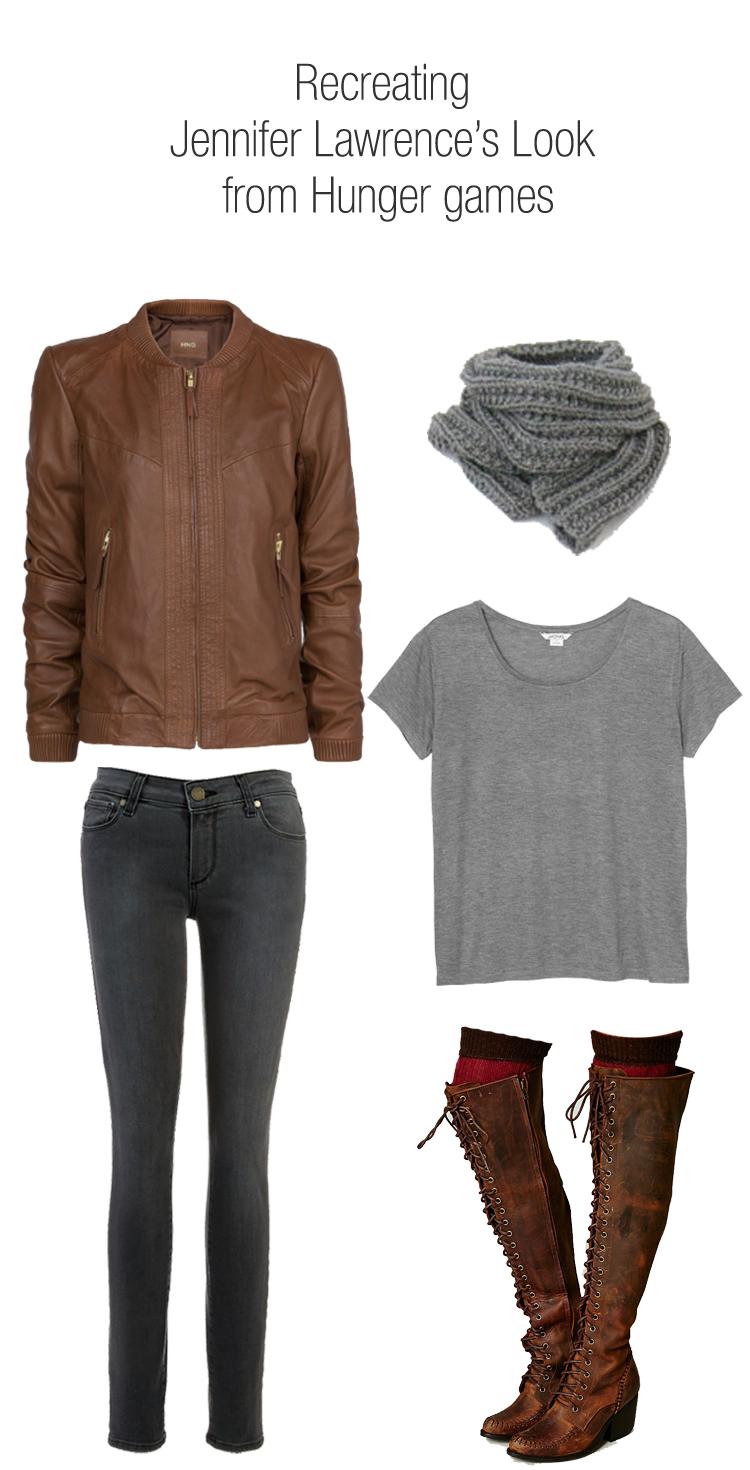 Jennifer Lawrence Hunger Games Leather Jacket