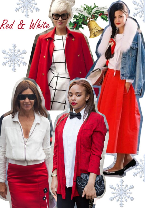 red and white christmas outfit ideas 1