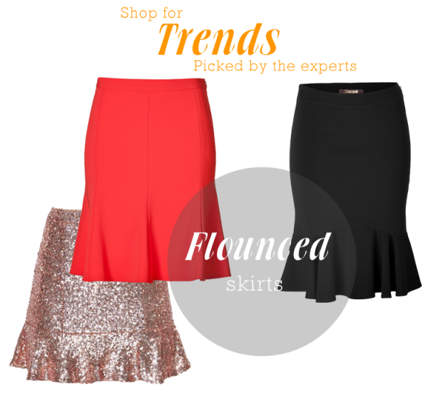 Flounced-skirts