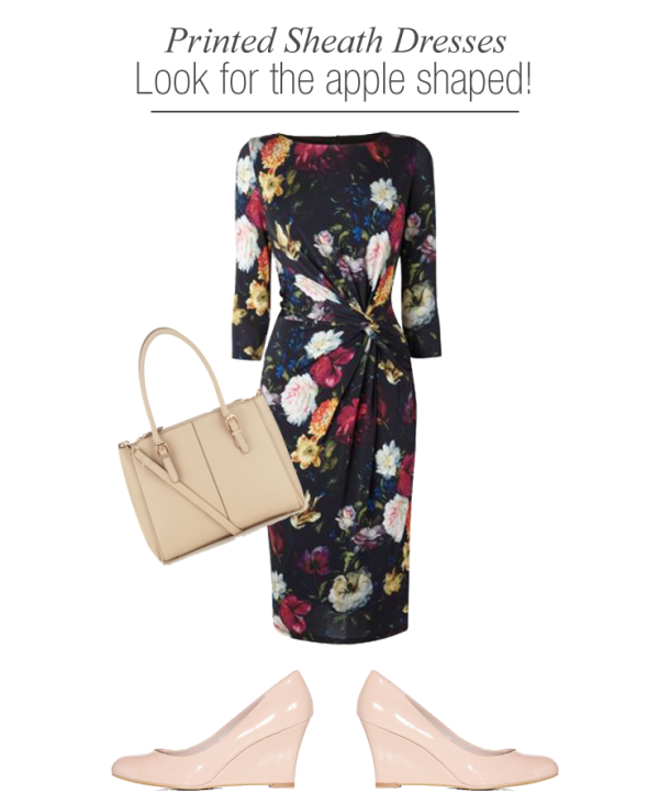 Printed-Sheath-dresses-for-apple-shaped-women