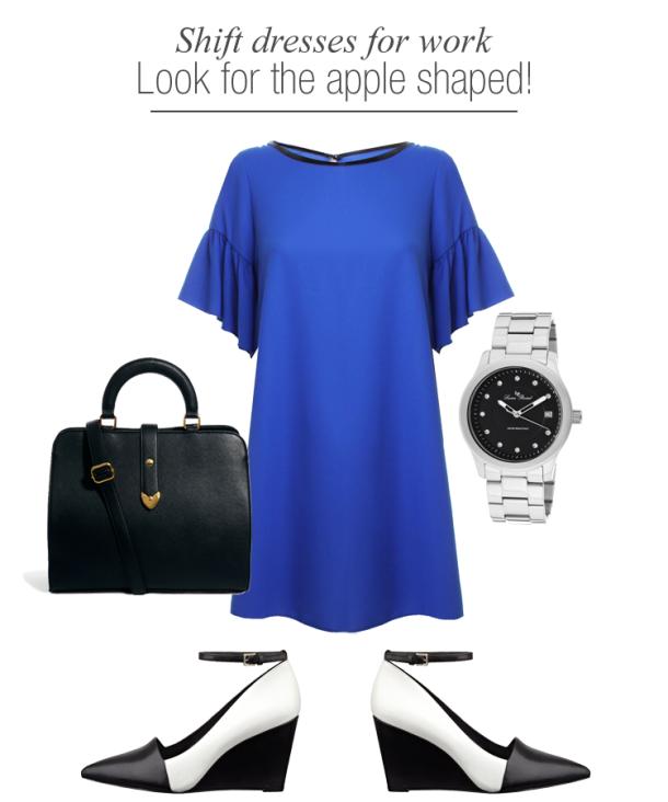 shift-dresses-work-wear-for-apple-shaped-women