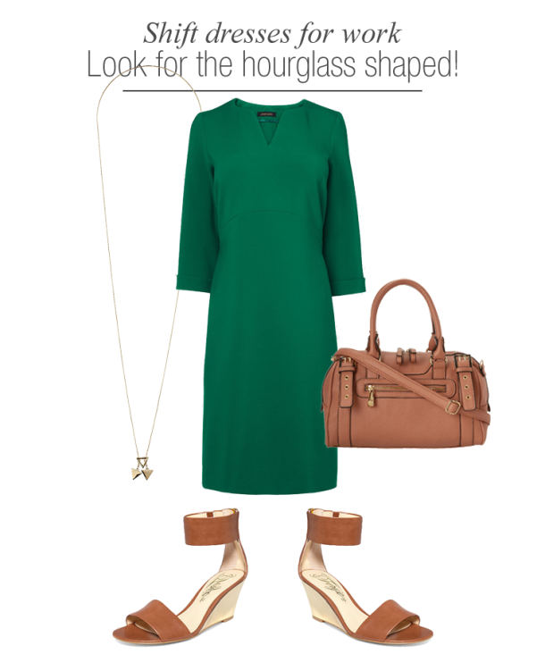 shift-dresses-work-wear-for-hourglass-shaped-women