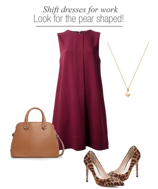 shift-dresses-work-wear-for-pear-shaped-women