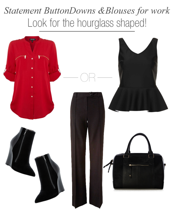 statement-button-down-shirts-for-work-wear-for-hourglass-shaped-women