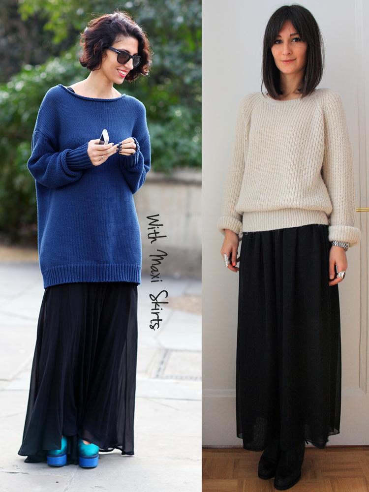 sweaters with maxi skirts