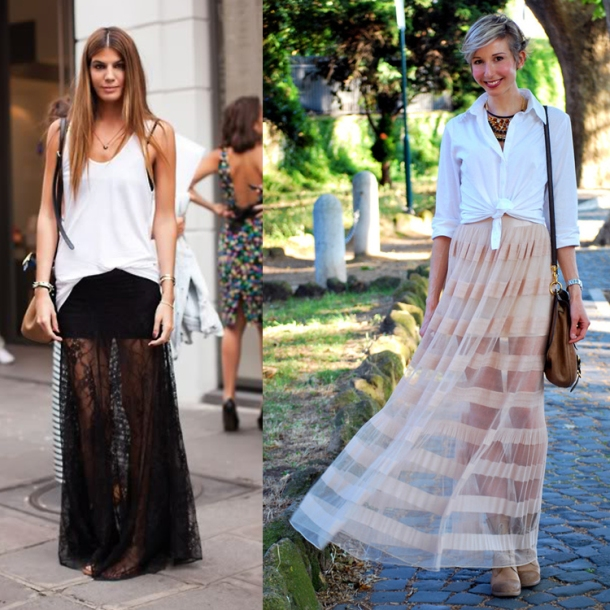 how to wear a white transparent top