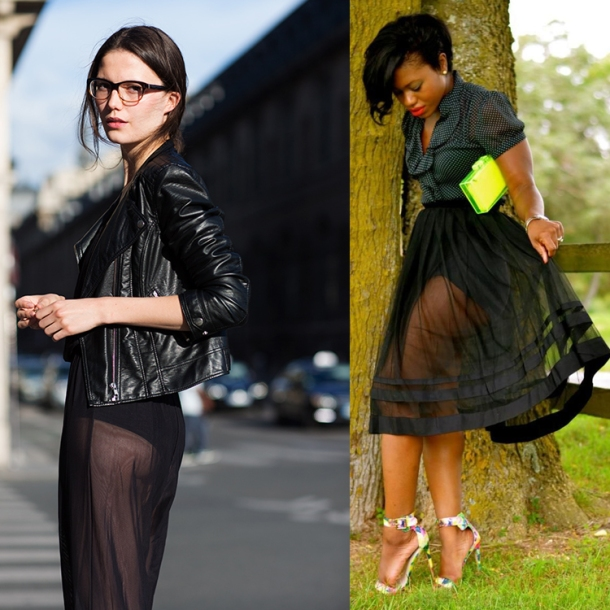 How to Wear Sheer Skirts for the Bold and the Faint at heart! |