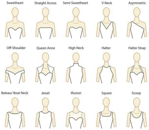 Decode The Wedding Dress Necklines L GNFhiA