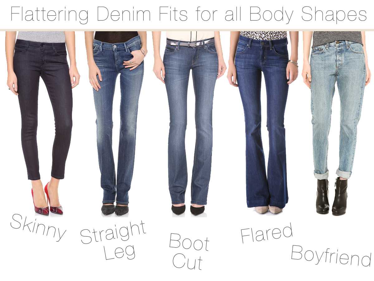 Most Flattering Denim Fits For All Body Shapes