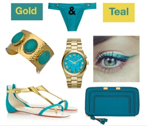 Gold and Teal