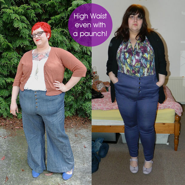 How to wear high waisted jeans for Tucked in shirt plus size