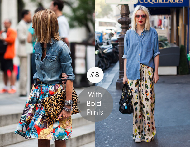 14-ways-to-wear-denim-chambray-shirt-street-style-with-bold-prints