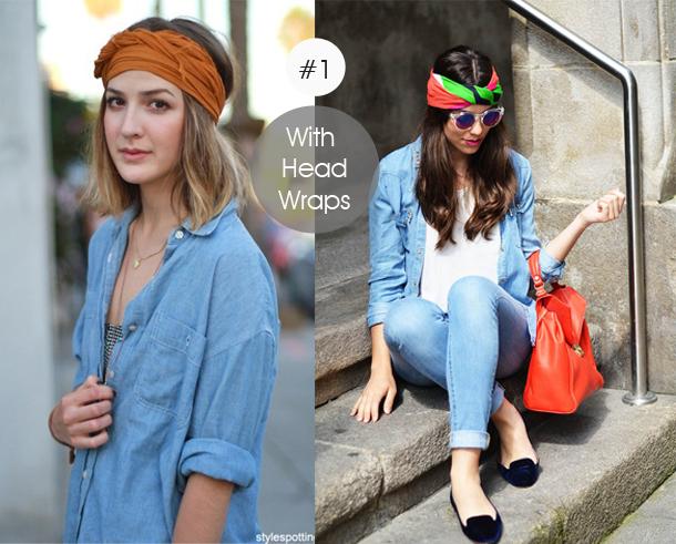 14-ways-to-wear-denim-chambray-shirt-street-style-with-head-wrap
