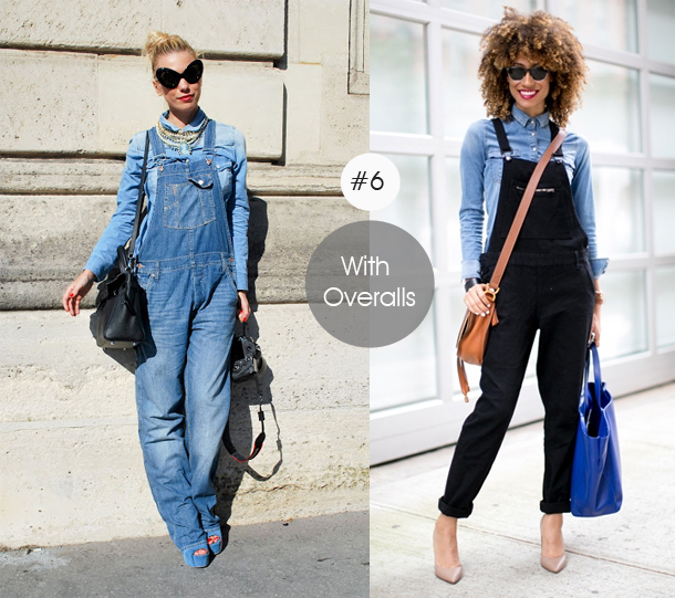 14-ways-to-wear-denim-chambray-shirt-street-style-with-overallst