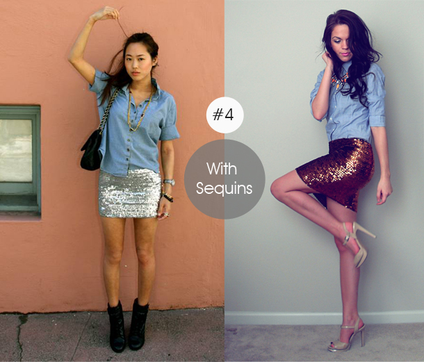 14-ways-to-wear-denim-chambray-shirt-street-style-with-sequins-in-the-day