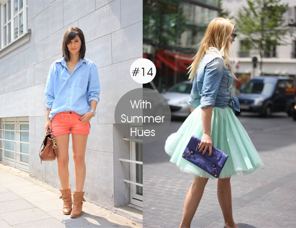 14-ways-to-wear-denim-chambray-shirt-street-style-with-summer-hues