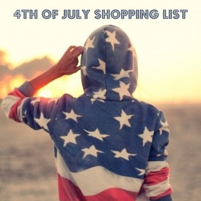 July 4th Shopping List : Stars and Stripes Special