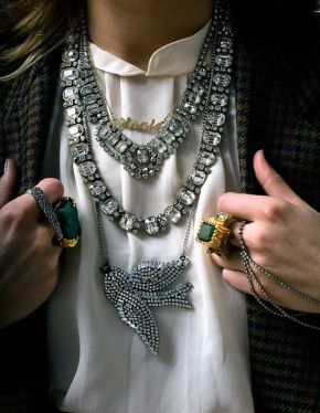 Style Crush : StackedNecklaces