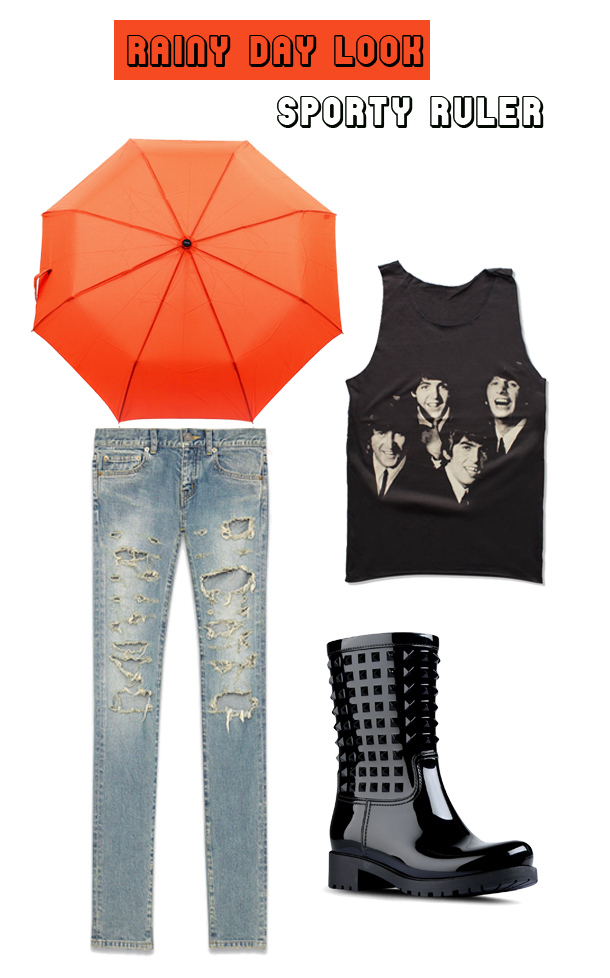 rainy day looks for inverted triangle